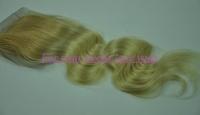 Fashion #27/613 Blonde/Bleach blonde Color 4*4 Top Lace Closure Bleached Knots 8-24inch 5A Virgin Brazilian Human Hair Body Wave