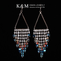 (Min order is $10) Free Shipping New  Arrival Acrylic Crystal Drop Earrings Fashion  Luxurious Jewelry for Women EA-05032