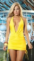 Fashion pretty soft lace beautiful Club sexy sleepwear underwear dress  yellow N 003 Nightgowns