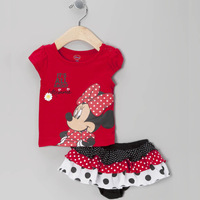 [Lucky Clover]Free Shipping,retail,1set,KD-0026-01,Cartoon lovely baby summer dress,baby girls dresses with red color