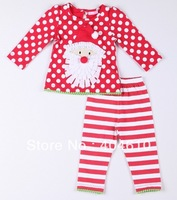 Merry Christmas! Baby Christmas Suits  long sleeve T-shirt + cute striped pants Father Christmas EZD-T0007