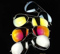 (20 pieces) new fashion metal mirror sunglasses, Mercury reflective sunglasses, retro men/women sunglasses UV400