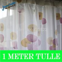 Promotion!100*250cm Dandelion ikea blackout for living room/bedroom curtains,hook process,1meter sheer curtain