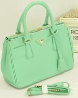 Free Shipping Rectangle ol briefcase bags women's handbag lavender purple handbag beige green work bag