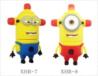 UFD0312 Wholesale&Retail 40 kinds of Despicable Me2 Cute Police Light  Minion Gift USB Flash Pen Drive  USB Flash Disk2-64GB