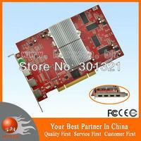100% New Multi-screen display card ATI Radeon 7000 Dual GPU 64M PCI Video graphic card 4 HDMI output ports support 4 monitors