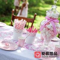 Dessert decoration bucket fashion lace miscellaneously bucket white iron or plastic cutout wedding birthday