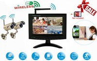 "Network wireless with Smartphone Viewing 7"" LCD monitor H.264 2.4GHz  CCTV System Kit with 2pcs Night Vision Cameras"