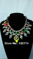 shourouk style luxury necklaces pendants shourouk gem necklace Crystal flower Braided pearl necklace