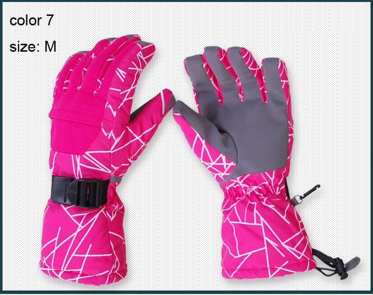 Free Shipping 2013 New Fashion Unisex Men and Women Winter Glovesr Ski Snowboard Gloves Waterproof windproof Glove 8 Colors(China (Mainland))