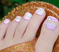 New 2013 3d decor fake nails,natural false toe nail,acrylic nails tips,24 pcs,free shipping