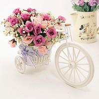 Furnishings fun quality rattan bandwagon vase meters orchid DIY artificial flower set home decoration--(FL140075)