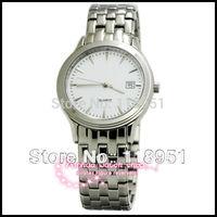 2014 Stainless steel bracelet genuine sapphire advanced imported quartz movement waterproof Calendar watch Swiss couple
