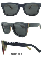 Free Shipping 2013 New Arrive High Quality 100% Handmade Polarized Wood Sunglasses Men Z68004C