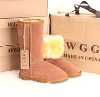 Wgg snow boots high-leg boots women's shoes winter boots genuine leather boots grey cow muscle outsole