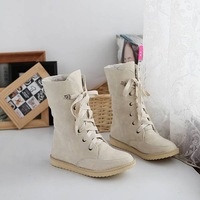 Fashion female flat wedding sexy leather ladies snow boots for women and women's autumn winter shoes #Y10269F
