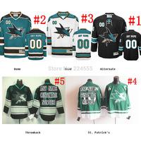 Custom San Jose Sharks hockey Jerseys personalized Customized Cheap China Hockey Jerseys Number & Name Sewn On YL-6XL