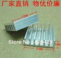 Green Quality radiator fins IC Heatsink 20 * 20 * 6MM CPU cooling block 25pcs/lot Free shipping