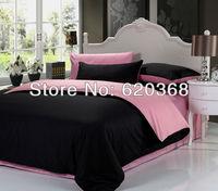 100%cotton black and pink bedding sets and duvet cover,pink bed sheet,princess bedsheet set,bedspreads,bedclothes,bed linen