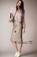 2013 To 2014 European Fashion Autumn Short Jacket Beading Decoration Pink Skirt Suits women