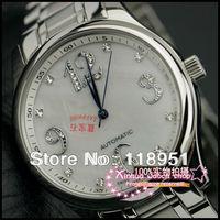 The new calendar Sapphire Rhinestone digital scale mechanical stainless steel men's watch fashion luxury business Switzerland