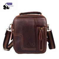 New 2014 Genuine leather Men's Messenger Bag Fashion Shoulder Bag Hot models with designer Suitable for office, travel