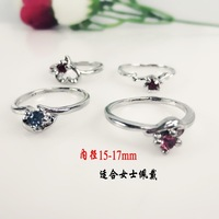 min order is $10(mixed order) bright inlaid Ladies Ring crystal swiss diamond women trinket gift jewelry