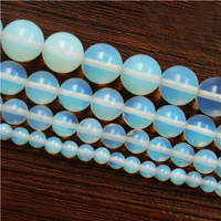 """Free Shipping Natural Stone Smooth White Opal Quartz Loose Beads 4-10mm Pick Size 15""""Diy Bracelet Necklace For Jewelry"""