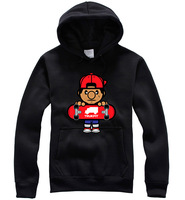 SUPREME,OBEY 2013 Autumn New Men's Hip Hop Trukfit Hooded Couples 100% Cotton Pure Color Long Sleeve Sport Sweatshirts