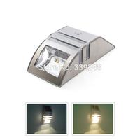 Industrial New Design Solar Power Motion Sensor Super Bright Led Stainless Steel Light Garden Wall Pir Lamp