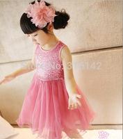 Hot retail!! new summer children girls sequins dress fashion girl's sequin vest dresses free shipping
