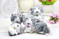 "Anime Sweet Cat Plush Stuffed Toys 7.5cm high 3"" As Bag/Mobile Phone Pendant Promotional Gift For Kids Cheap 30pcs/Lot Wholesale"