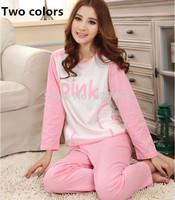 Autumn winter season two new MS cotton pajamas cute cartoon pink long sleeved clothing sleep wear wholesale home furnishing