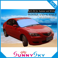 FREE SHIPPING 4 colors Sun Shade,Snow shield,Sunshade ,Snow Cover 150*70 Front Window Car Curtain+Double-Sided Aluminium Foil