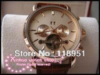 Hot new calendar flywheel rudder 5-pin automatic movement sapphire belt genuine luxury Swiss brand men's watch business