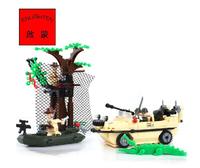 Enlighten Building Blocks Combat Zones Amphibian Vehicle Assemblign Blocks Hot Toy for Boy Model Building Gift Free Shipping