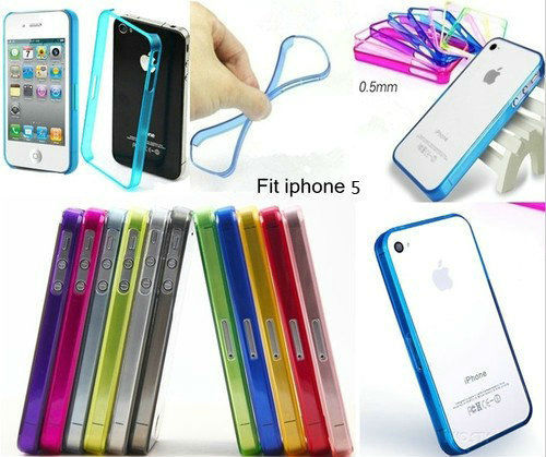 Free Shipping Ultra-thin Stylish Bumper Frame Case Cover For iPhone 5/5S(China (Mainland))