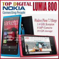 3pcs/lot Original Nokia Lumia 800 Windows Phone WIFI GPS 16GB 8MP Unlocked Cell phone One year Warranty