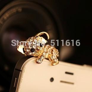 Free Shipping Cute Animal Anti Dust Plug For iPhone 3.5mm Ear Cap Earphone Jack Plug Wholesale Quality Assurance(China (Mainland))