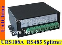 URS108A 1 channel input, 8 channels output half-duplex RS485 signal splitter for CCTV system