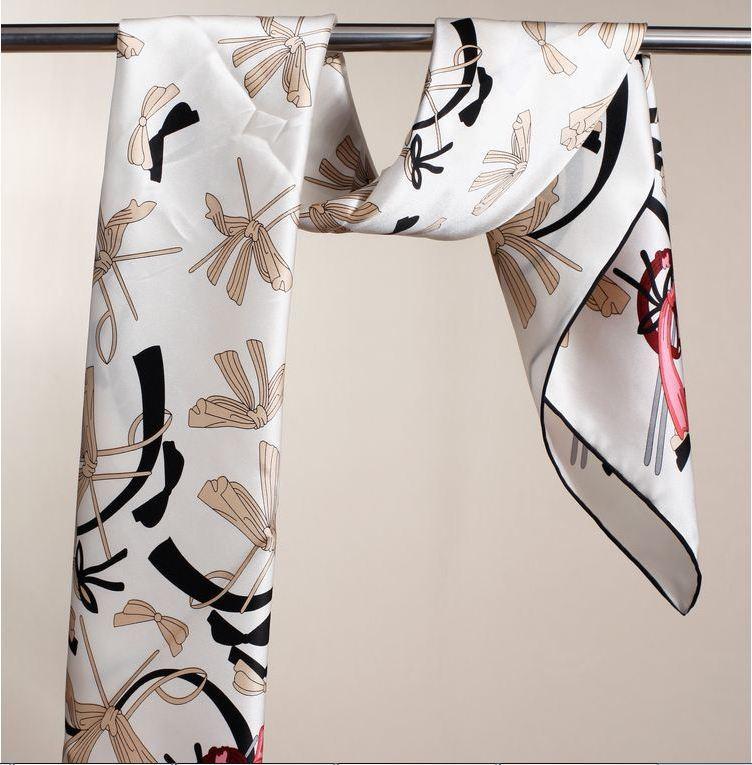 100% mulberry silk scarf good quality crepe satin plain scarf wholesame(China (Mainland))