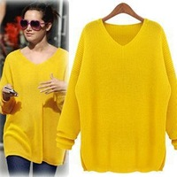 Free Shipping European fashion Autumn Winter women brand big plus size loose clothing xxxl pullover sweaters DM131799