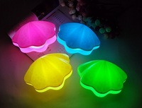 Unique LED mini shell pearl speaker Candy speaker USB charging LED bedside Colorful lights romantic birthday gift