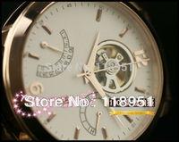 2014 new hot calendar automatic mechanical watch back through the belt storage display large dial men's watch Swiss brand