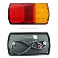 Pair 12V 2W LED Rear Stop Tail Light For Trailer Truck Caravan Boat Car 150*80*23MM