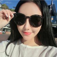 Fashion club Women round sunglasses 2014 fashion star lady gaga brand punk Hollow sunglasses women sun glasses wholesale y366