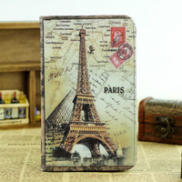 Retro Famous Building Stand Case for Samsung galaxy tab 3 7.0' p3200 t210 t211 Slim PU Leather Case Big Ben Eiffel Tower 5 Color