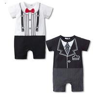 new 2014,summer baby clothing,newborn boy romper,baby bodysuit,bebe wear,gentleman style,infantil boy shorts