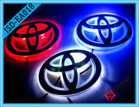 Car Badge Light For Toyota Yaris,11*7.5cm, Single Color Auto Logo Led Light, Auto Emblem Lamp, Rear Light Free Shipping