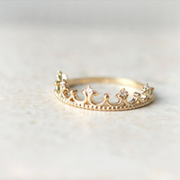 Valentine Day Gift 2015 Fashion Jewelry 18k gold silver women men Crown Ring Finger Free Shipping.
